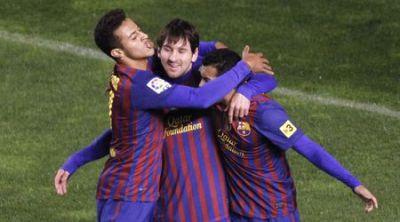 """""""Барселона"""" отложи празненствата в Мадрид след 7:0 над """"Райо Валекано"""""""