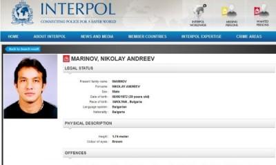 Интерпол издирва с червена бюлетина Николай Маринов – Малкия Маргин