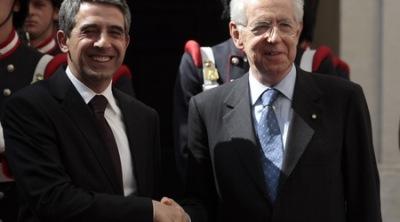 Растежът не може да бъде купен нови дългове, каза Плевнелиев след срещата с Марио Монти