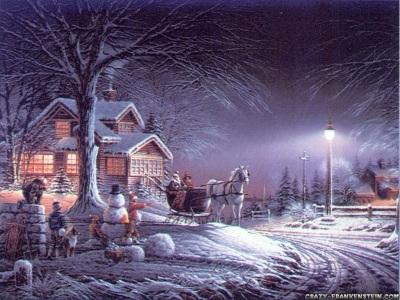 Нощна Коледа тапет