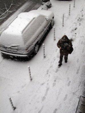 София първи сняг
