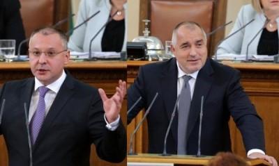 премиера Бойко Борисов и лидера на БСП Сергей Станишев
