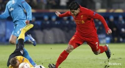 """Луис Суарес се отчете с невероятни пропуски, отборът му загуби с 0:2 на """"Петровский"""""""